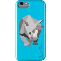 WILMA Electric Savanna Rhino iPhone 6 / 6s / 7 / 8 / SE Case - Blue, Blue