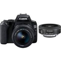 CANON EOS 250D DSLR Camera with EF-S 18-55 mm f/3.5-5.6 III & EF-S 24 mm f/2.8 STM Lens Bundle
