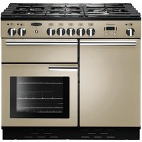 RANGEMASTER Professional 100 Dual Fuel Range Cooker - Cream & Chrome, Cream