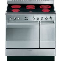 SMEG  Concert 90 Electric Ceramic Range Cooker - Stainless Steel, Stainless Steel