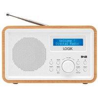 'Logik Lhdr15 Portable Dab/fm Radio - Light Wood & White