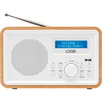 Click to view product details and reviews for Logik Lhdr15 Portable Dab Fm Clock Radio Light Wood White White.