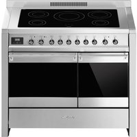 SMEG Opera 100 cm Electric Induction Range Cooker - Stainless Steel, Stainless Steel