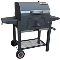 LANDMANN Tennessee Broiler Drum Charcoal BBQ - Black, Charcoal