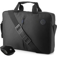 HP Value 15.6 Laptop Case & Wireless Mouse Kit - Black, Black