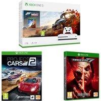 MICROSOFT Xbox One S, Forza Horizon 4, Tekken 7 & Project Cars 2 Bundle, Snow