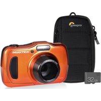 PRAKTICA Luxmedia WP240-O Compact Camera with Case & SD Card - Orange, Orange
