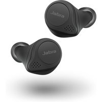 JABRA Elite Active 75T Wireless Charging Enabled Wireless Bluetooth Earphones - Black, Black