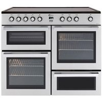 FLAVEL MLN10CRS Electric Ceramic Range Cooker - Silver and Chrome, Silver