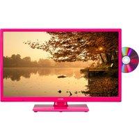 24 LOGIK L24HEDP15 LED TV with Built-in DVD Player - Pink, Pink