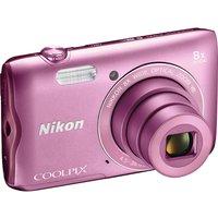 NIKON COOLPIX A300 Compact Camera - Pink, Pink sale image