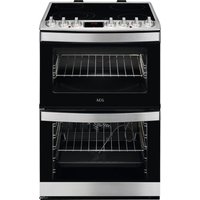 Click to view product details and reviews for Aeg Ccb6760acm 60 Cm Electric Ceramic Cooker Stainless Steel Black Stainless Steel.