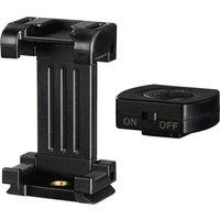 HAMA Pro II Tripod Smartphone Holder - Black, Black