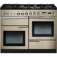 RANGEMASTER Professional+ 110 Gas Range Cooker - Cream and Chrome, Cream