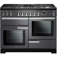 RANGEMASTER Professional Deluxe 110 Dual Fuel Range Cooker - Slate & Chrome