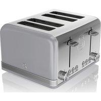 SWAN Retro ST19020GRN 4-Slice Toaster - Grey, Grey.
