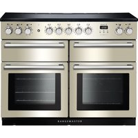 Rangemaster Nexus SE NEXSE110EIIV/C 110 cm Electric Induction Range Cooker - Ivory and Chrome, Ivory