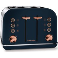 Click to view product details and reviews for 242039 4 Slice Toaster Midnight Blue Rose Gold Blue.
