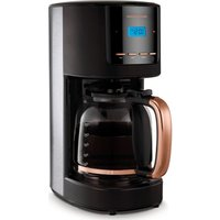 MORPHY RICHARDS Rose Gold Collection 162030 Filter Coffee Machine - Black and Rose Gold, Gold