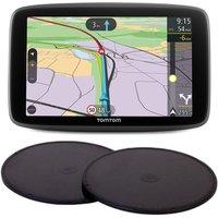 "TOMTOM GO Professional 6200 HGV 6"" Full Europe Maps Sat Nav & Adhesive Dashboard Mount Disks Bundle"