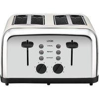 LOGIK L04TC14 4-Slice Toaster - Silver & Cream, Silver
