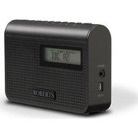 ROBERTS Play M2 Portable DAB Radio - Black, Black