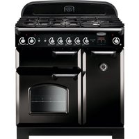 RANGEMASTER Classic 90 Gas Range Cooker - Black and Chrome, Black