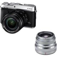 Fujifilm X-e3 Mirrorless Camera, Xf 18-55 Mm F/2.8-4 R Lm Ios Lens & Fujinon Xf 35 Mm F/2 R Wr Standard Prime Lens Bundle