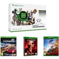MICROSOFT Xbox One S, 3-Month Game Pass, Live Gold Membership, Tekken 7, Project Cars 2 & Forza Horizon 4 Bundle - 1 TB, Gold