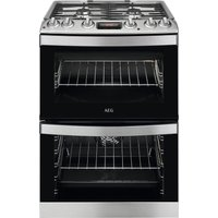 AEG CKB6540ACM 60 cm Dual Fuel Cooker - Stainless Steel, Stainless Steel