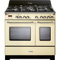 KENWOOD CK 425-CR-1 90 cm Dual Fuel Range Cooker - Cream and Stainless Steel, Stainless Steel