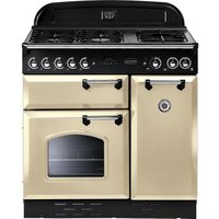 RANGEMASTER Classic 90 Dual Fuel Range Cooker - Cream & Chrome, Cream