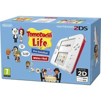 NINTENDO 2DS & Tomodachi Life - Red & White, Red