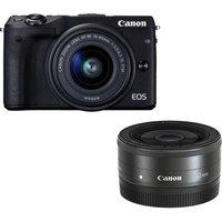 CANON EOS M3 Mirrorless Camera & Twin Lens Bundle