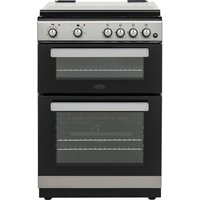 BELLING FSDF608D 60 cm Dual Fuel Cooker - Silver & Black, Silver