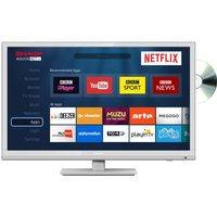 24 Sharp Lc-24dhg6001kw Smart Led Tv With Built-in Dvd Player - White, White