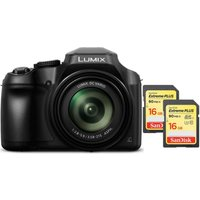 Panasonic Lumix DC-FZ82EB-K Bridge Camera & Class 10 SDHC Memory Card 16 GB Twin Pack Bundle
