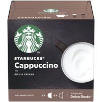 STARBUCKS Dolce Gusto Cappuccino Coffee Pods - Pack of 12