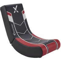 'X Rocker Video Floor Rocker Gaming Chair - Black & Red