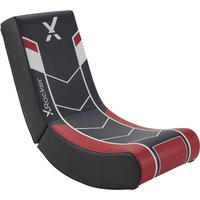 X ROCKER Video Floor Rocker Gaming Chair - Black & Red, Black.