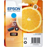 EPSON No. 33 Oranges Cyan Ink Cartridge, Cyan