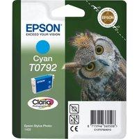 EPSON T0792 Owl Cyan Ink Cartridge, Cyan