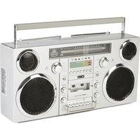 GPO Brooklyn Retro DAB/FM Bluetooth Boombox - Grey, Grey