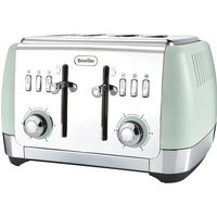 Buy BREVILLE Strata VTT768 4-Slice Toaster - Green, Green - Currys PC World