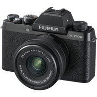 Fujifilm X-t100 Mirrorless Camera With Fujinon Xc 15-45 Mm F/3.5-5.6 Ois Pz Lens - Black, Black