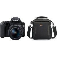CANON EOS 250D DSLR Camera, EF-S 18-55 mm f/3.5-5.6 III Lens & Bag Bundle, Black