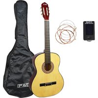 3RD AVENUE STX20 Full Size Classical Guitar Bundle - Natural