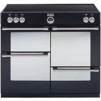 STOVES Sterling 1000Ei Electric Induction Range Cooker - Black, Black