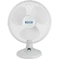 "STATUS 12"" Desk Fan - White, White"
