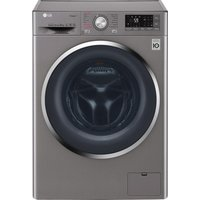 LG F4J7VY2S Smart 9 kg 1400 Spin Washing Machine - Shine Steel
